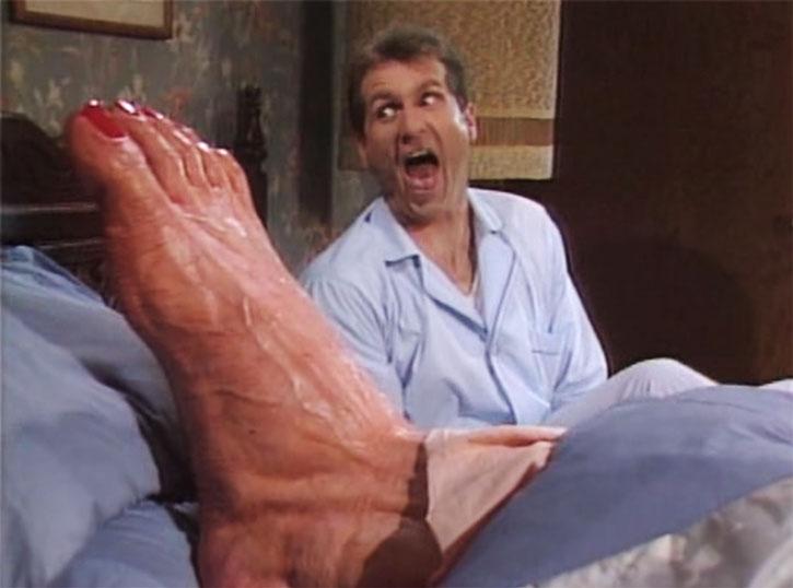 Al Bundy dreaming of a giant foot