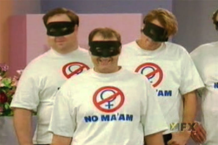 Al Bundy and friends with NO MAAM T-shirts