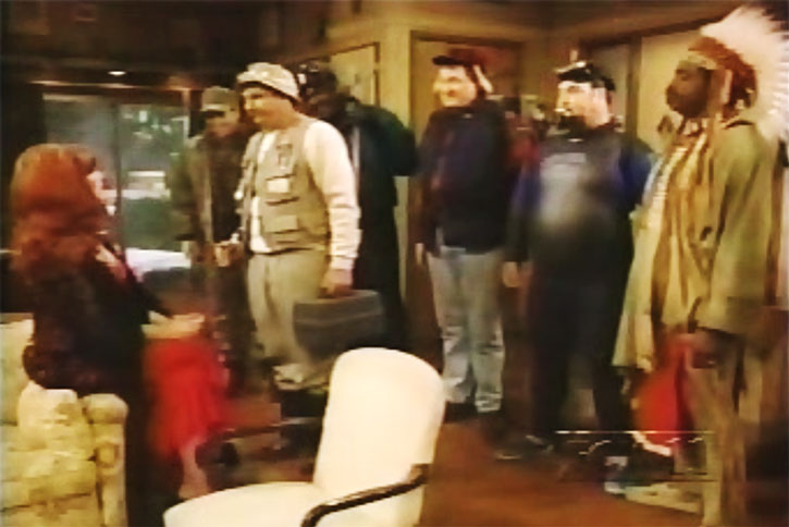 Al Bundy and disguised friends