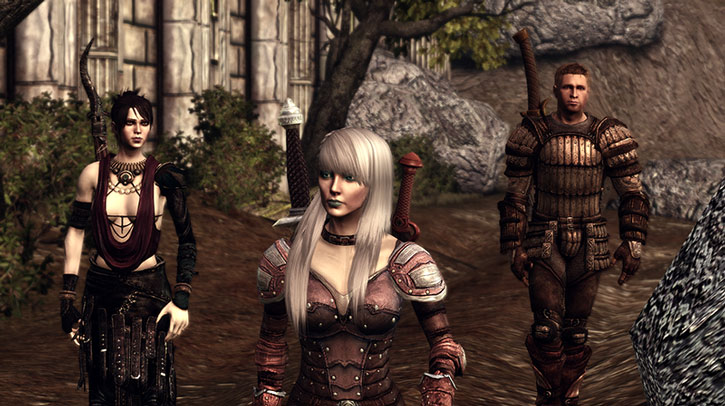 Morrigan, Alamen and Alistair
