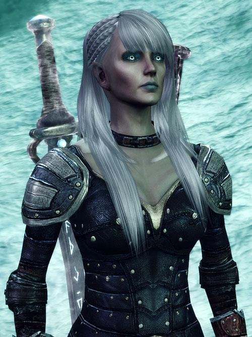 Dragon Age Origins - Alamen Tabris - ice and luminous eyes
