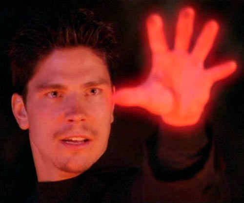 Alec the Darklighter (Michael Trucco in Charmed) glowing hand death touch