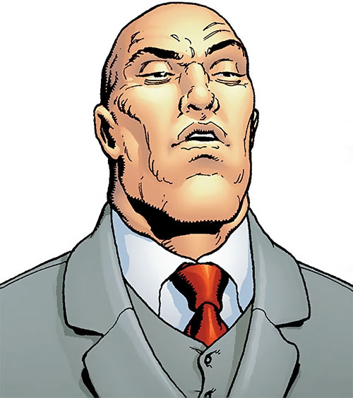 Alexander Luthor (Crime Syndicate enemy) (DC Comics) face closeup