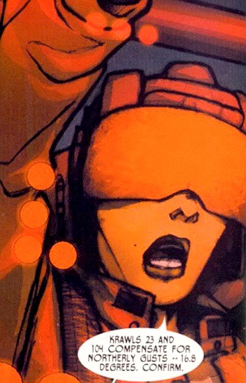 Alexandra Goncharova (Red Star) (Image Comics) with tanker helmet