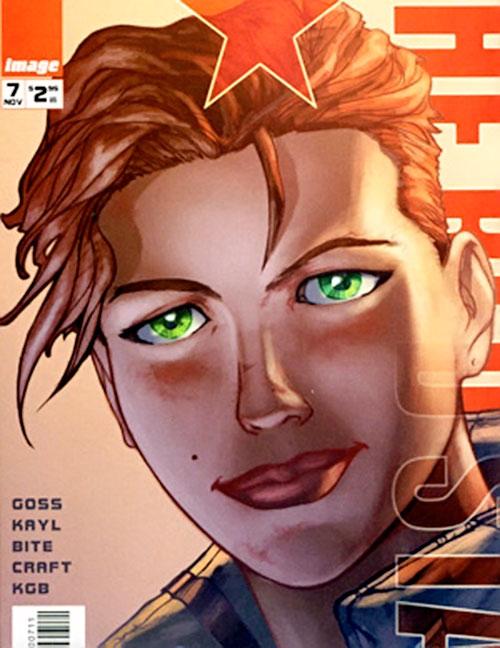 Alexandra Goncharova (Red Star) (Image Comics) face closeup