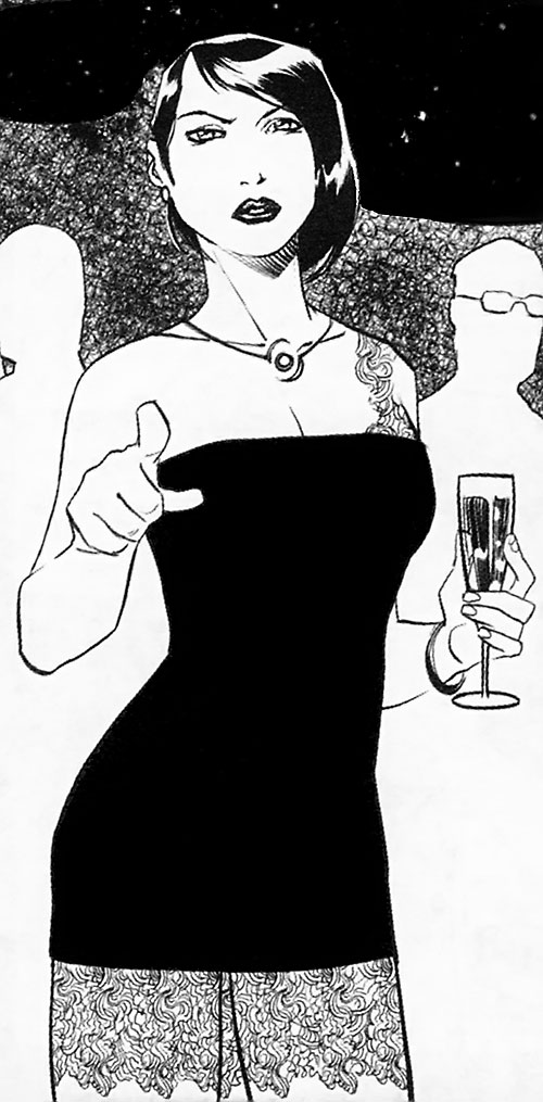 Trese Comics - Alexandra in a cocktail dress