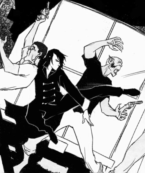 Trese Comics - Alexandra fighting two goblins