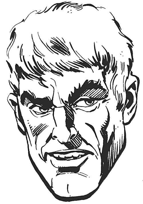Alexei Luthor (DC Comics) B&W portrait