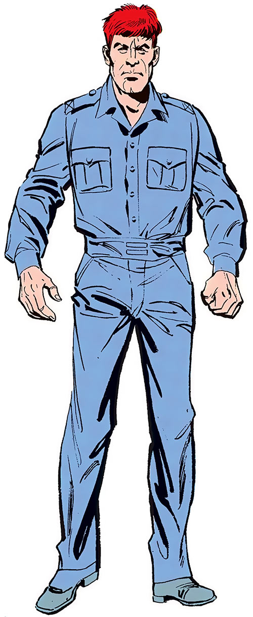 Alexei Luthor (DC Comics) from Earth-2 in his prison uniform, from the Who's Who