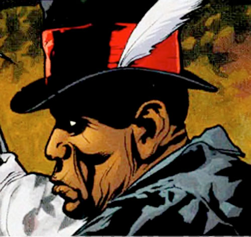 Ali Ka-Zoom as a ghost (7 Soldiers) (DC Comics) feather in his hat