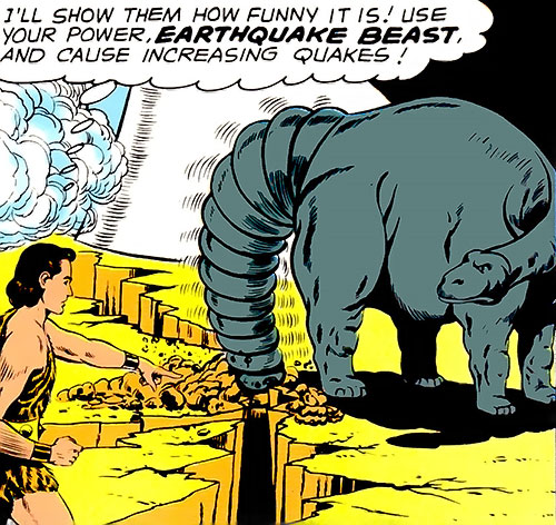 Earthquake Beast and Monster Master (Legion of Super-Heroes) (DC Comics)