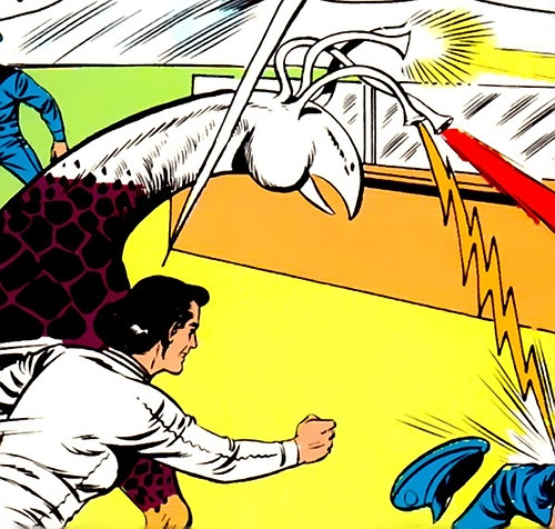 Eye Monster and Monster Master attacking (Legion of Super-Heroes) (DC Comics)
