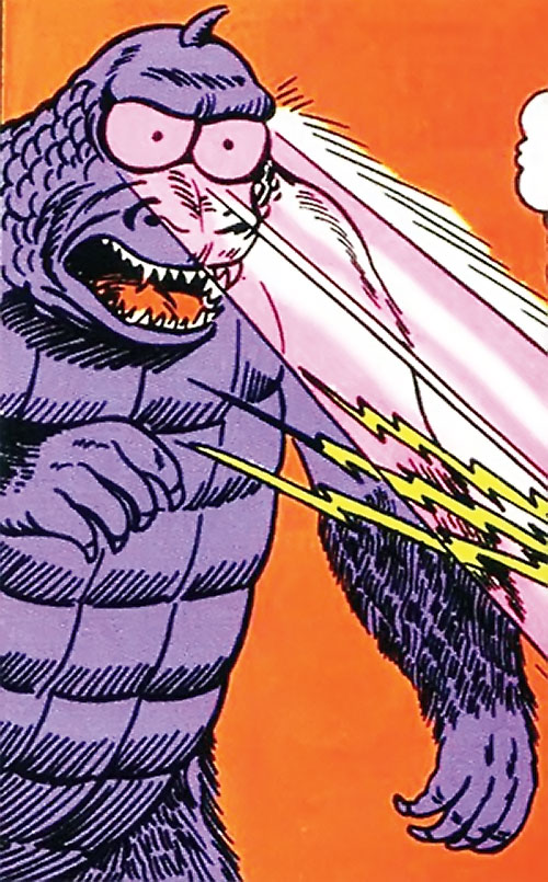 Flasher Beast (Legion of Super-Heroes) (DC Comics) shooting beams