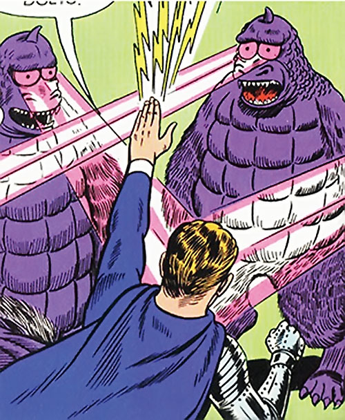 Flasher Beasts vs. Lightning Lad (Legion of Super-Heroes) (DC Comics)