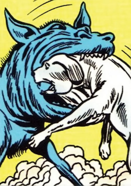 Maw attacking a dog (Legion of Super-Heroes) (DC Comics)