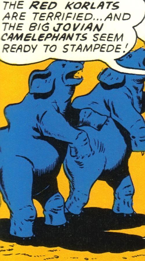 Stampeding camelephants (Legion of Super-Heroes) (DC Comics)
