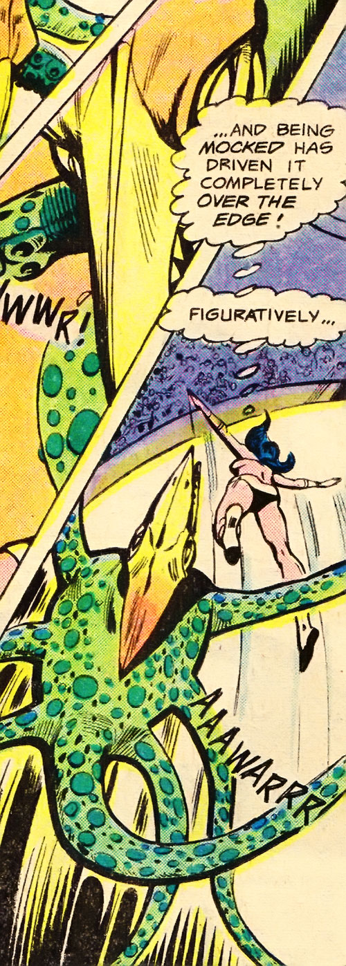 Jovian attack squid vs. Phantom Girl (Legion of Super-Heroes) (DC Comics)