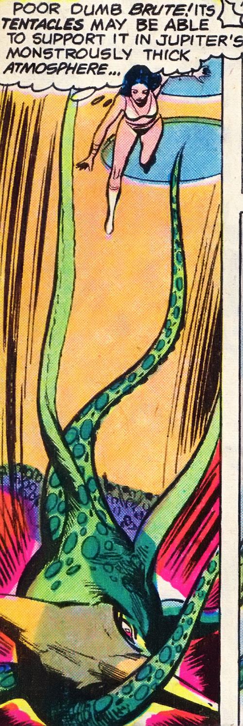 Jovian attack squid falling (Legion of Super-Heroes) (DC Comics)