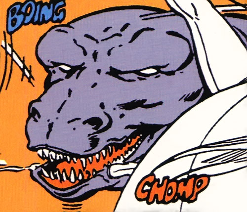 Earthquake Beast head closeup (Legion of Super-Heroes) (DC Comics)