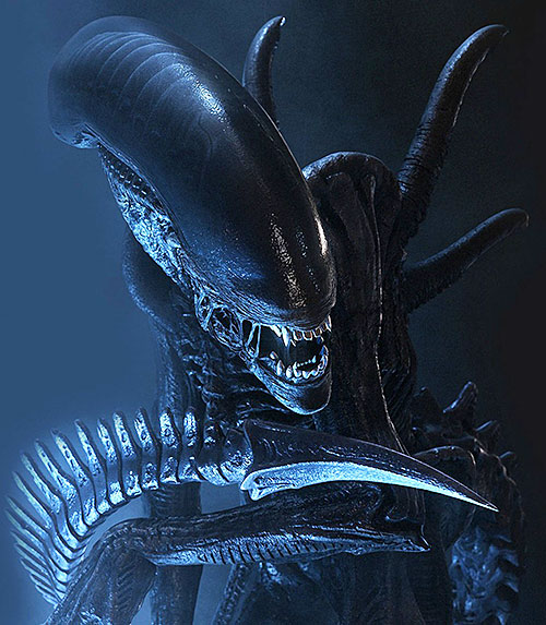 Alien xenomorph in darkness