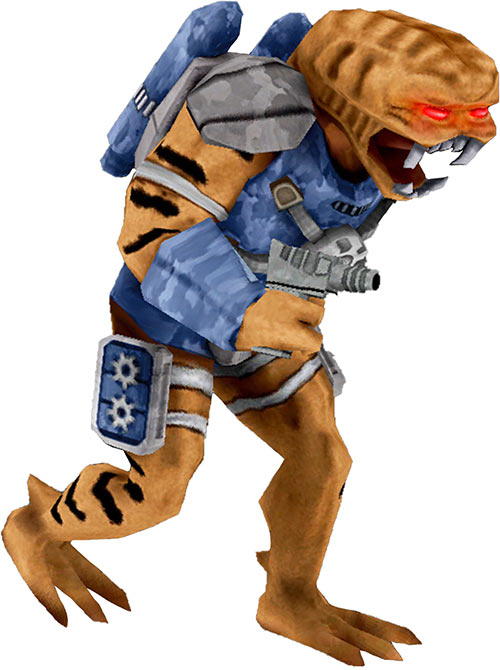 Duke Nukem vintage alien trooper blue uniform HD
