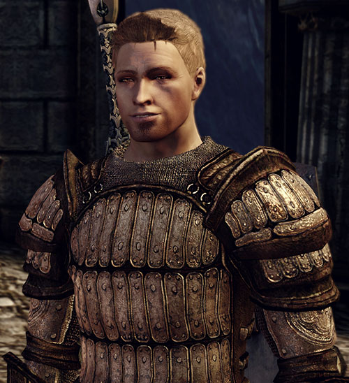 Alistair (Dragon Age: Origins) sarcastic grin