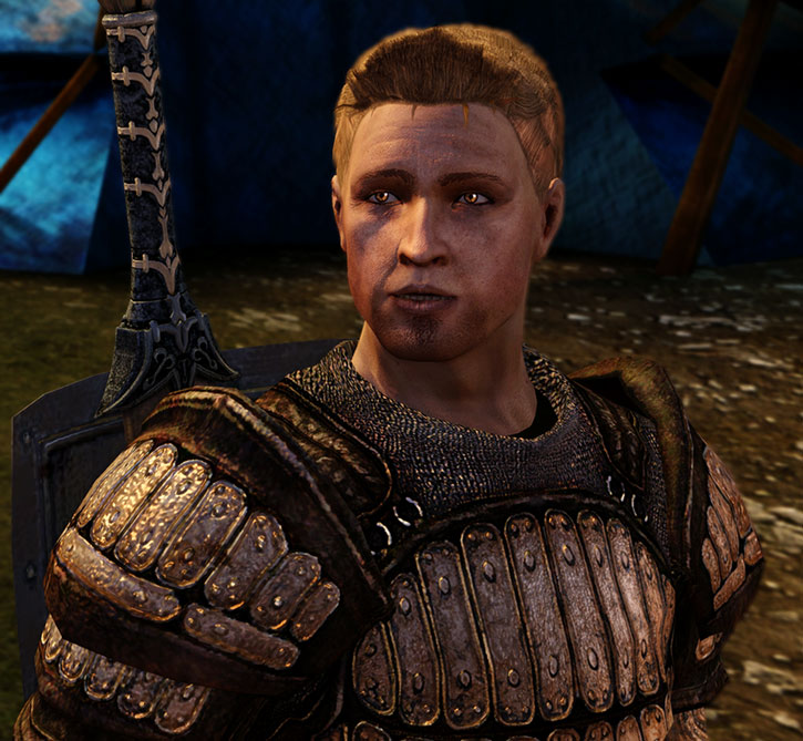 Alistair in splint armor