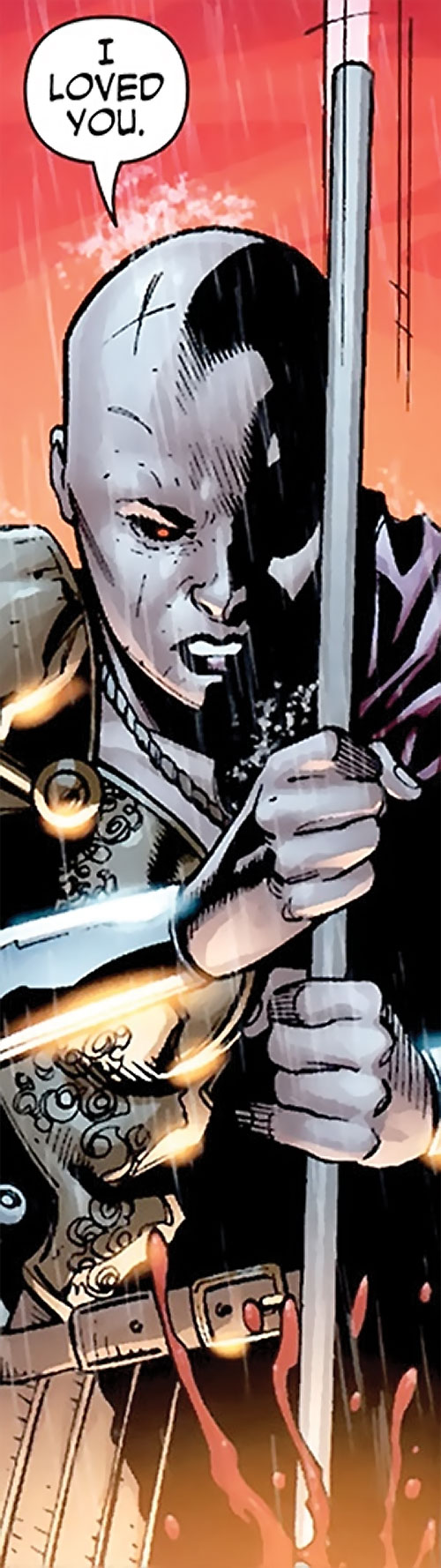 Alkyone (Wonder Woman character) (DC Comics) stabbing with a spear