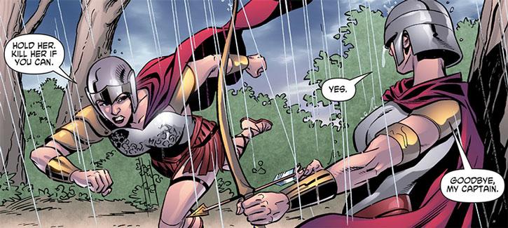 Alkyone and the Circle ambushing Wonder Woman