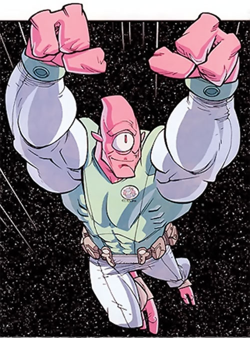 Allen the Alien (Invincible ally) (Image Comics) flying in space
