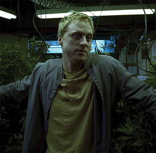 Alpha (Alan Tudyk in Dollhouse) among plants