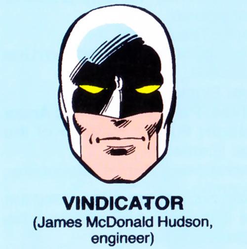 Vindicator of Alpha Flight (Marvel Comics) mugshot on blue background