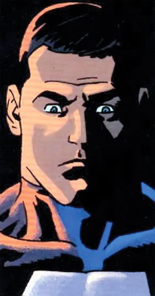 Alpha-One the Mighty (DC Comics) surprised face closeup