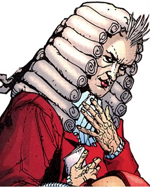 Amadeus (Stormwatch enemy) (Wildstorm Comics) face closeup