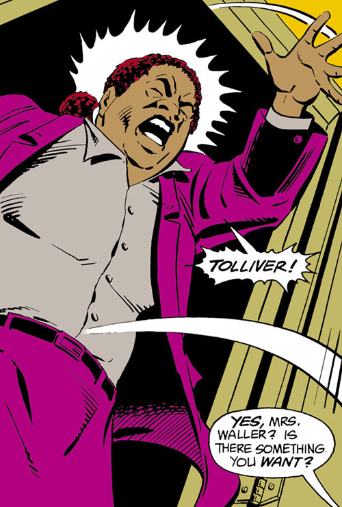 Amanda Waller of the Suicide Squad (DC Comics) screaming