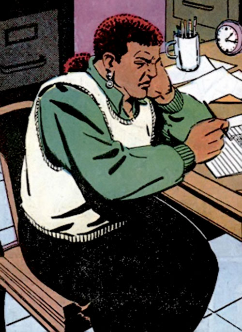 Amanda Waller of the Suicide Squad (DC Comics) writing