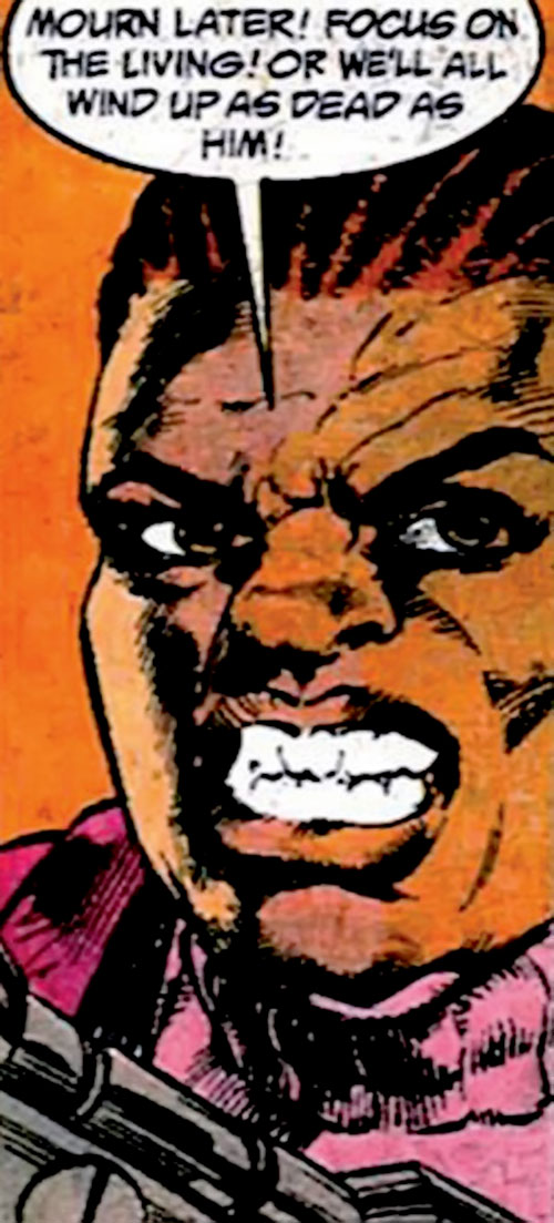Amanda Waller of the Suicide Squad (DC Comics) scowling