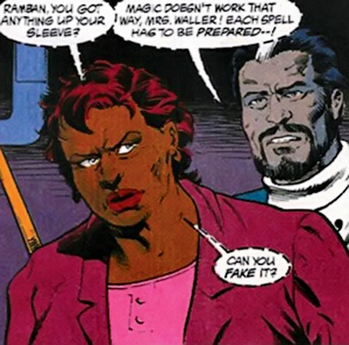 Amanda Waller of the Suicide Squad (DC Comics) and Ramban