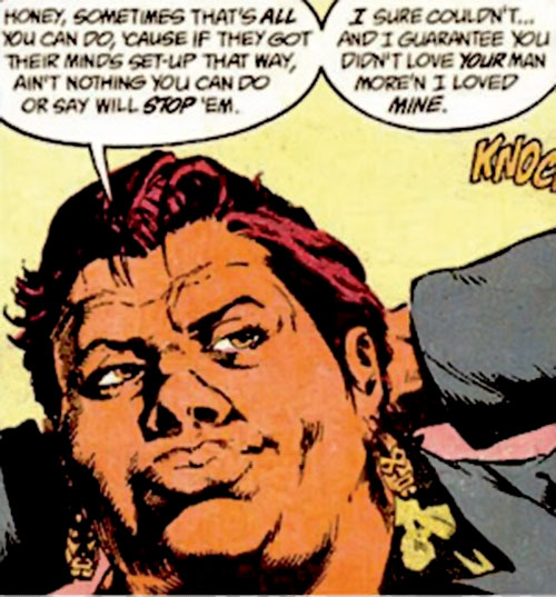 Amanda Waller of the Suicide Squad (DC Comics) giving some advice
