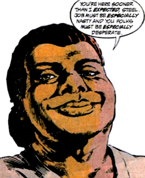 Amanda Waller of the Suicide Squad (DC Comics) arrogantly amused