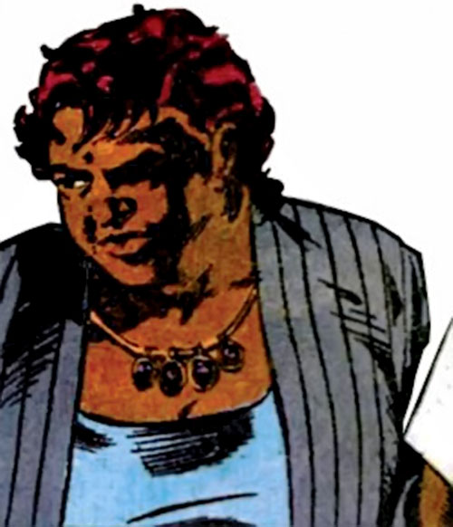 Amanda Waller of the Suicide Squad (DC Comics) in a gray suit