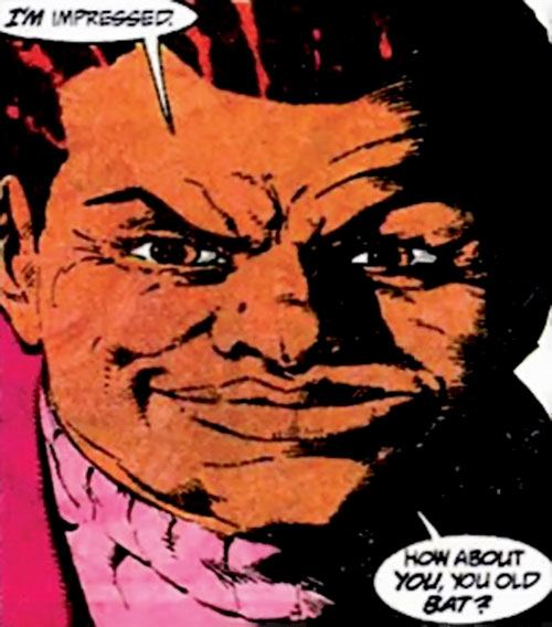 Amanda Waller of the Suicide Squad (DC Comics) smirking sarcastically
