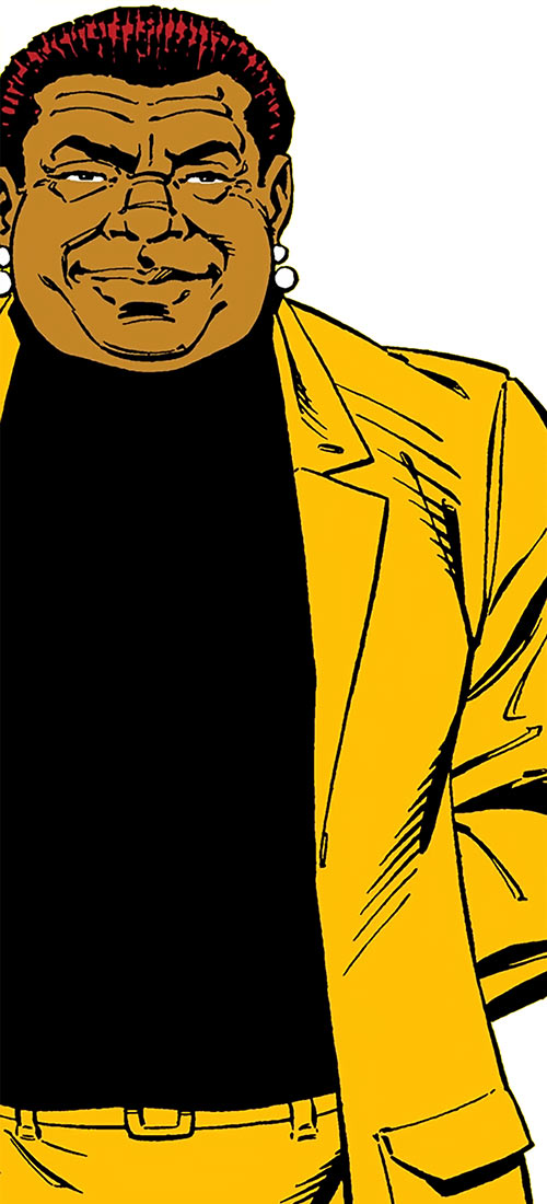 Amanda Waller of the Suicide Squad (DC Comics) in a mustard suit