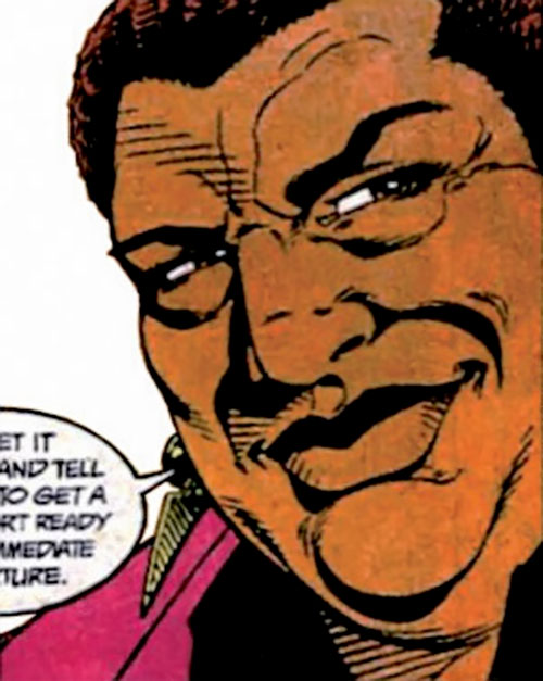 Amanda Waller of the Suicide Squad (DC Comics) smiling