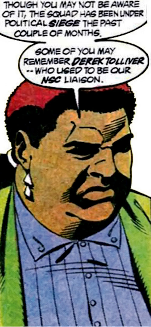 Amanda Waller of the Suicide Squad (DC Comics) announcing bad news