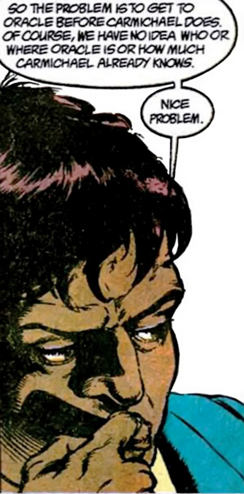 Amanda Waller of the Suicide Squad (DC Comics) thinking