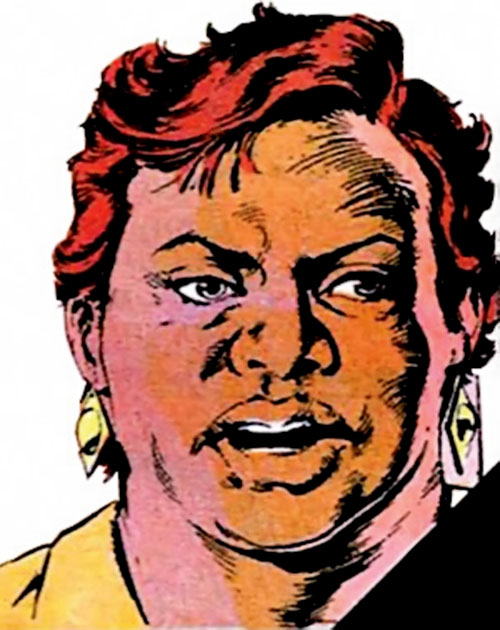 Amanda Waller of the Suicide Squad (DC Comics) face closeup