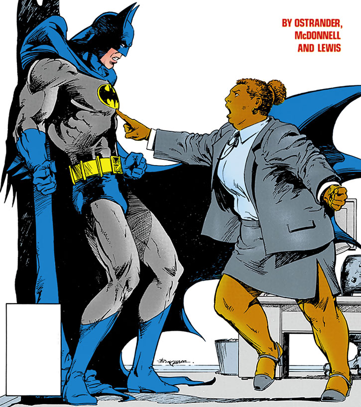 Amanda Waller facing Batman