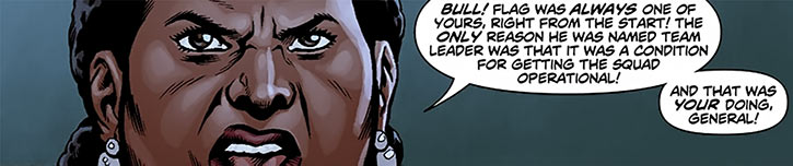 Amanda Waller facing General Eiling