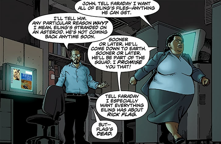 Amanda Waller and John Economios
